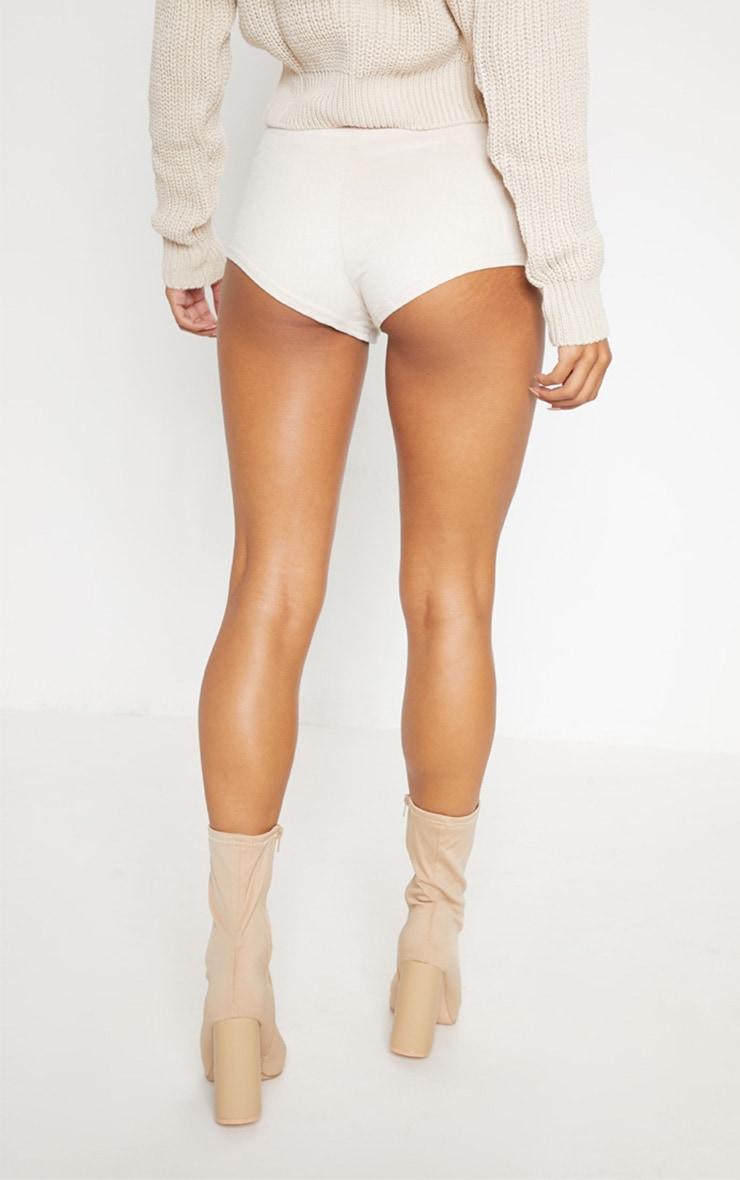 Cream Faux Suede Hot Pant 4
