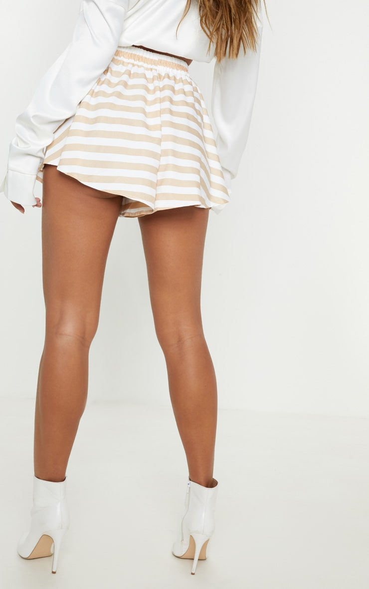 Taupe Stripe Floaty Short 4