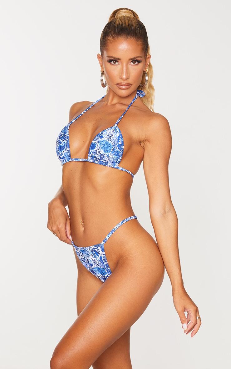 Blue Paisley Bikini Bottoms 2