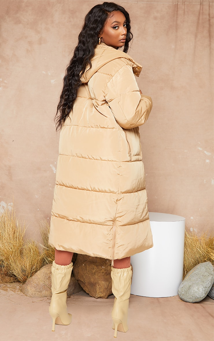 Stone Maxi Hooded Puffer 3