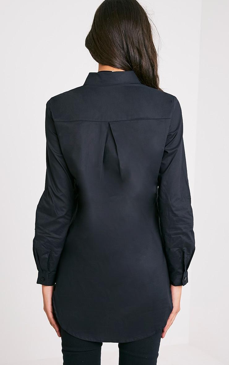 Analyn chemise à ourlet plongeant noire 2