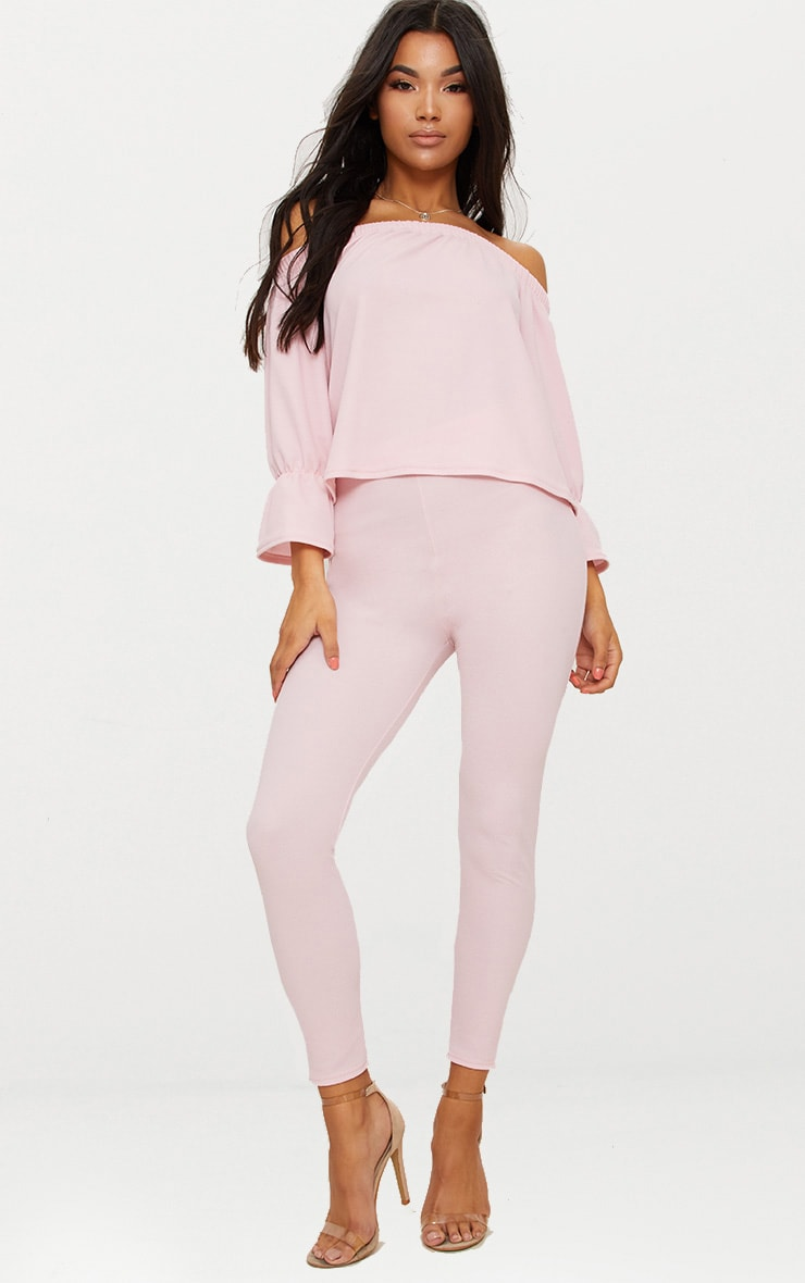 Pale Pink Cropped Trouser 1