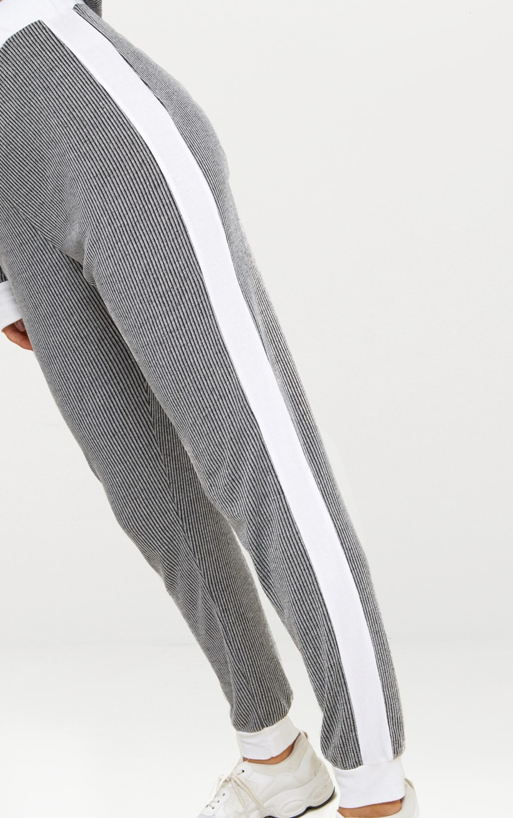 Grey Soft Rib Joggers 4