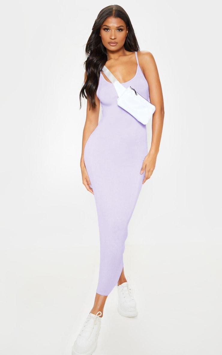 Lilac Drop Arm Hole Vest Maxi Dress 1