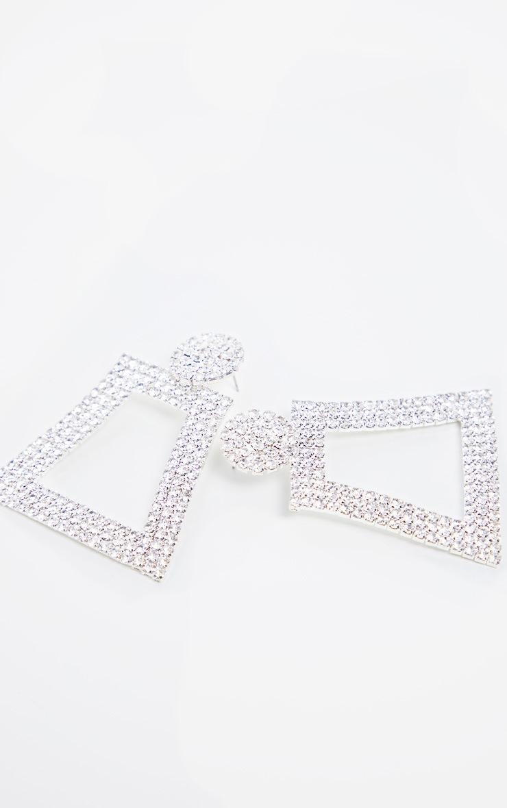 Crystal Diamante Geo Drop Earrings 3