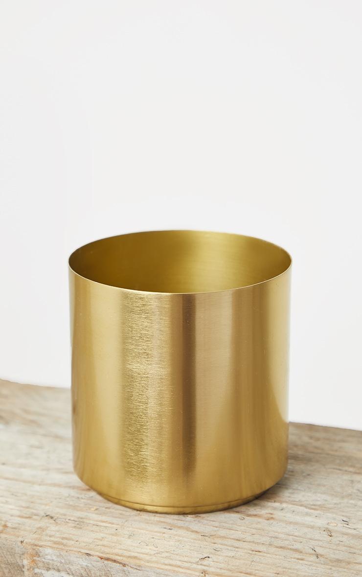 Gold Round Metal Vase 5