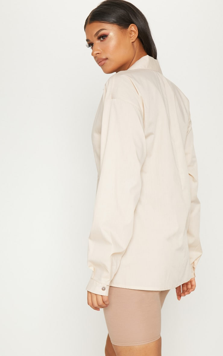 Stone Cotton Oversized Shirt 2