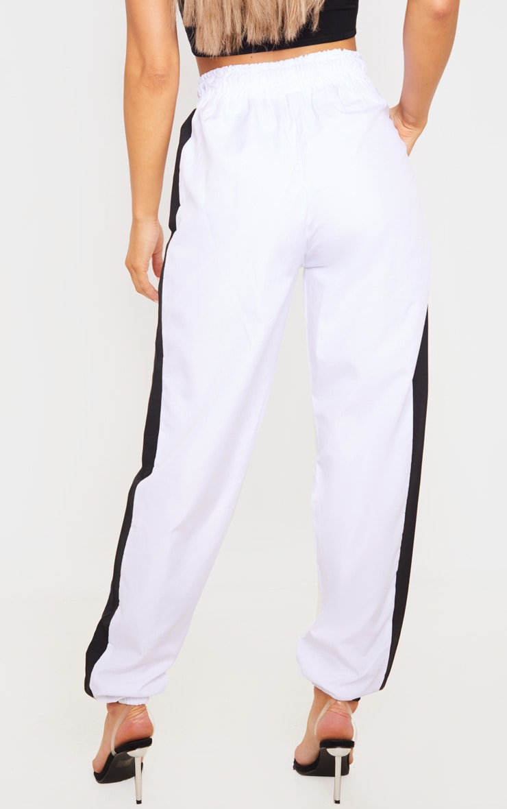 White Side Panel Joggers 4