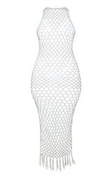 e54cae83bbe The Cream Fringe Hem Crochet Maxi Dress. Head online and shop this ...