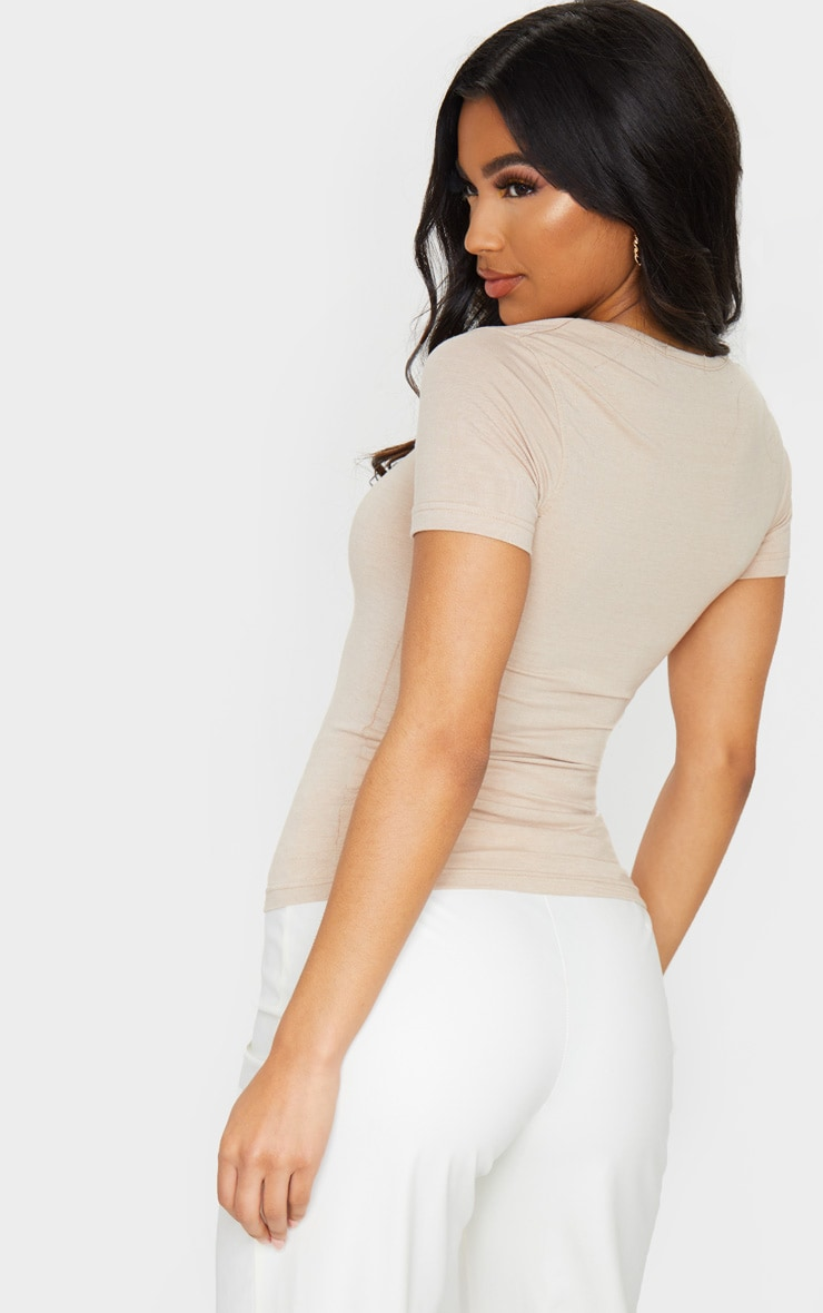 Nude Basic Fitted Scoop Neck T Shirt 2