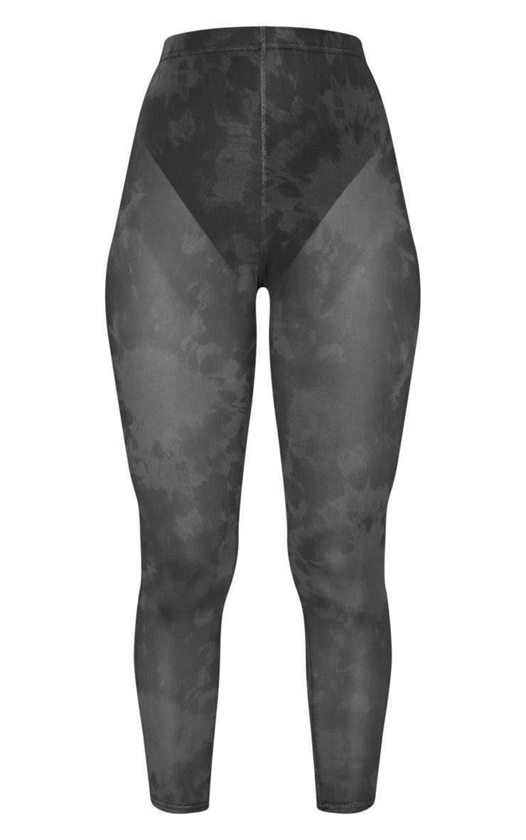 Black Tie Dye Mesh Legging 3
