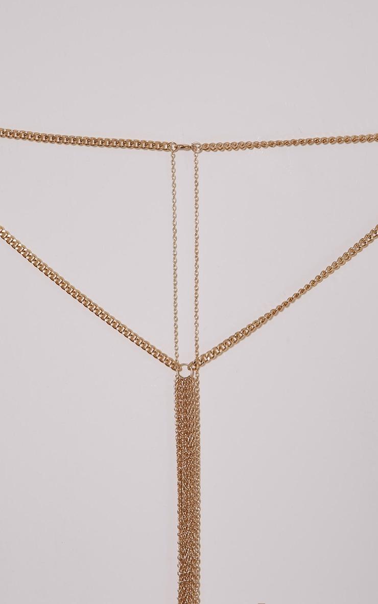 Audri Gold Multi Chain  Body Harness 3