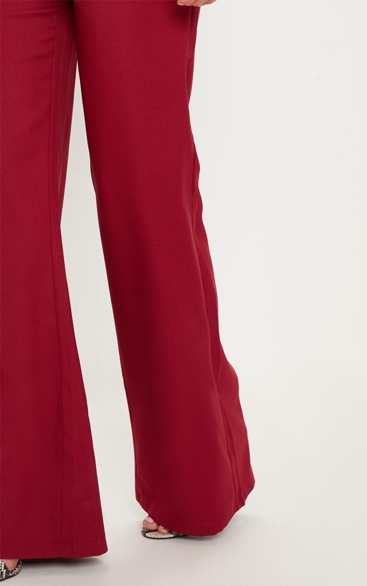 Pantalon ample bordeaux 5