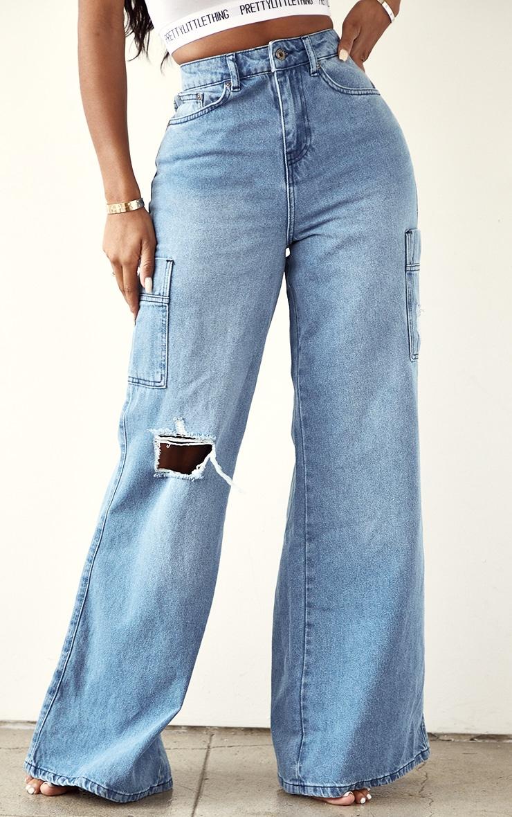 Shape Vintage Pocket Detail Wide Leg Jeans 2