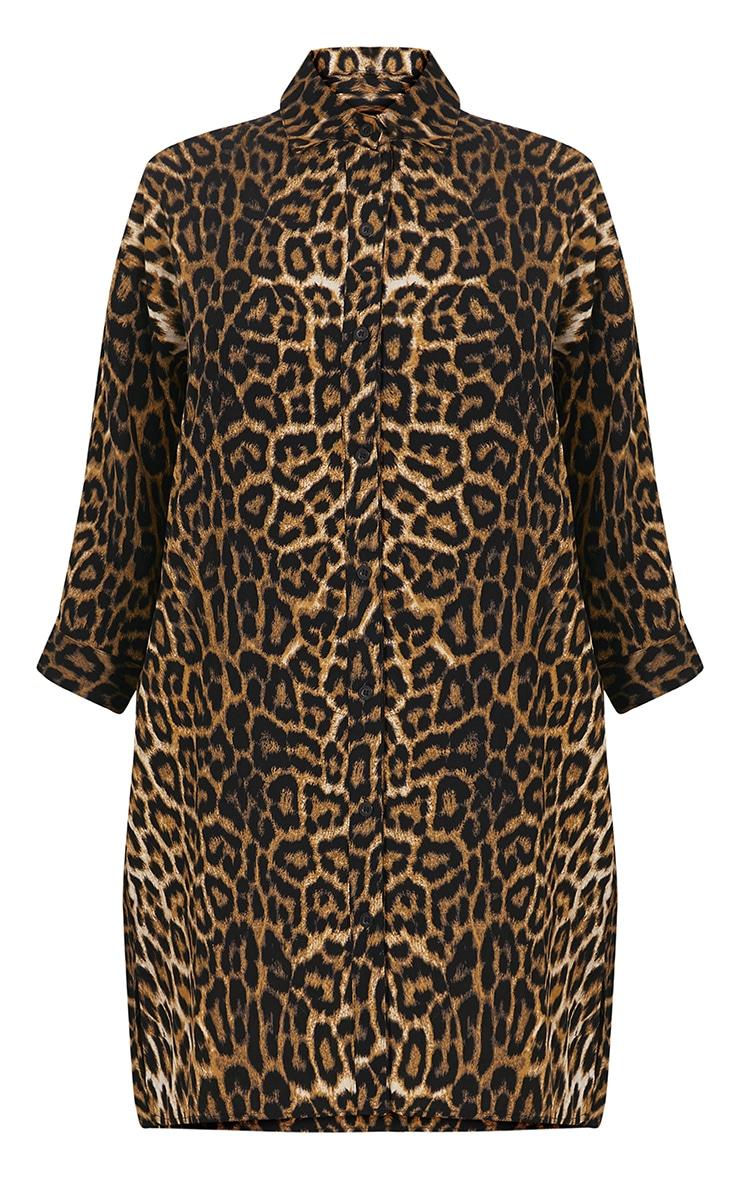 Viv Leopard Print Shirt Dress 3