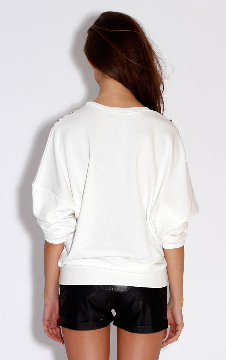 Pria White Print & Jewel Jumper 2