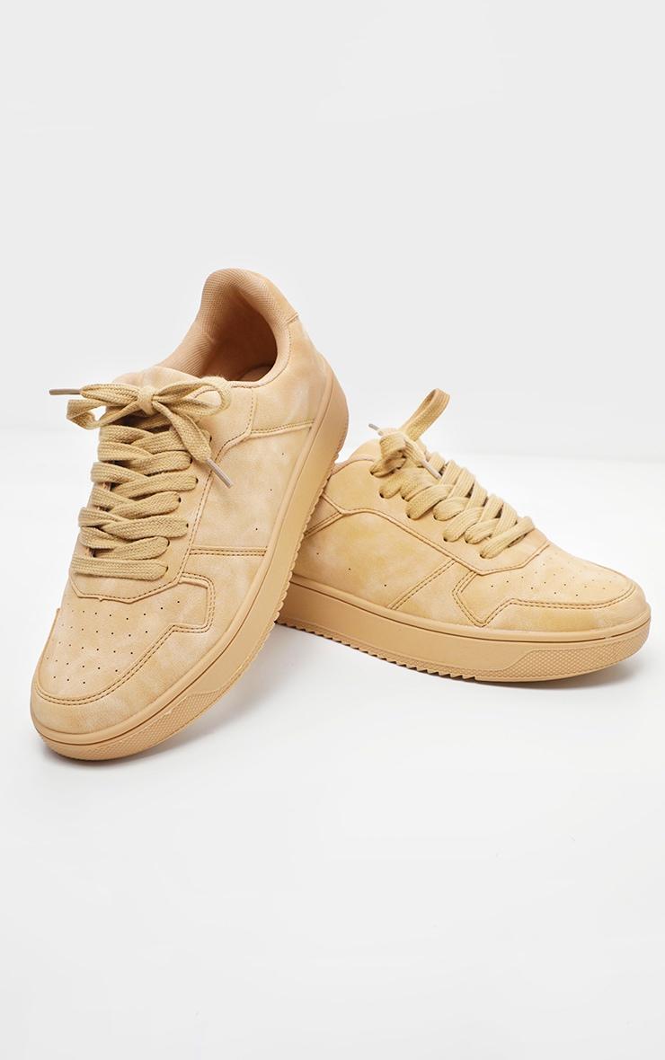 Sand Lace Up Flatform Sneaker 2