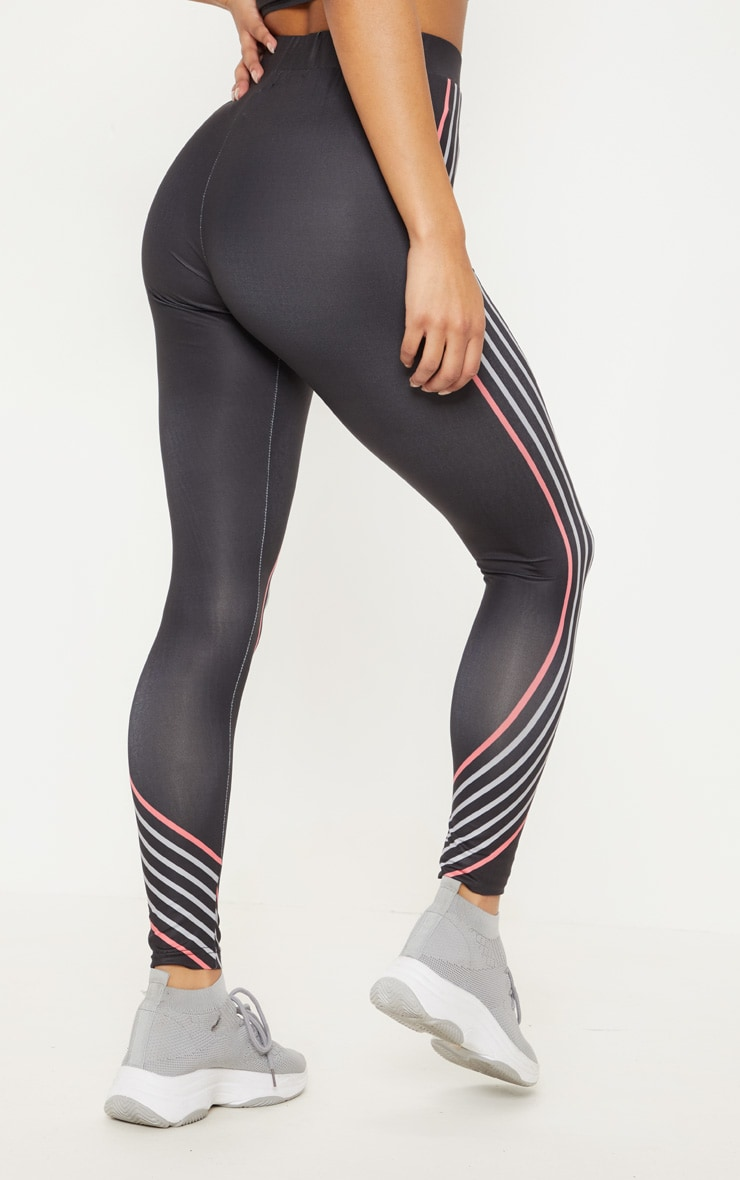 Black Illusion Stripe Legging 4