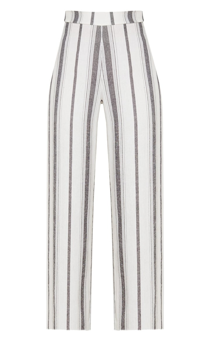 Mono Stripe Linen Wide Leg Pants 3