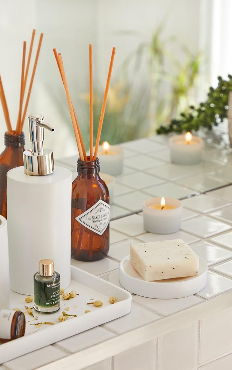 Matte White 3 Piece Bathroom Soap Set 3