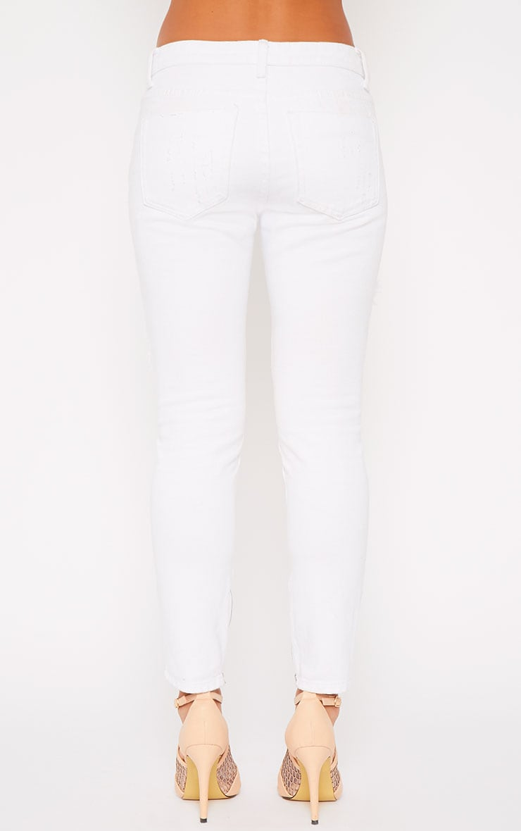 Miranda White Ankle Zip Mom Jeans 3