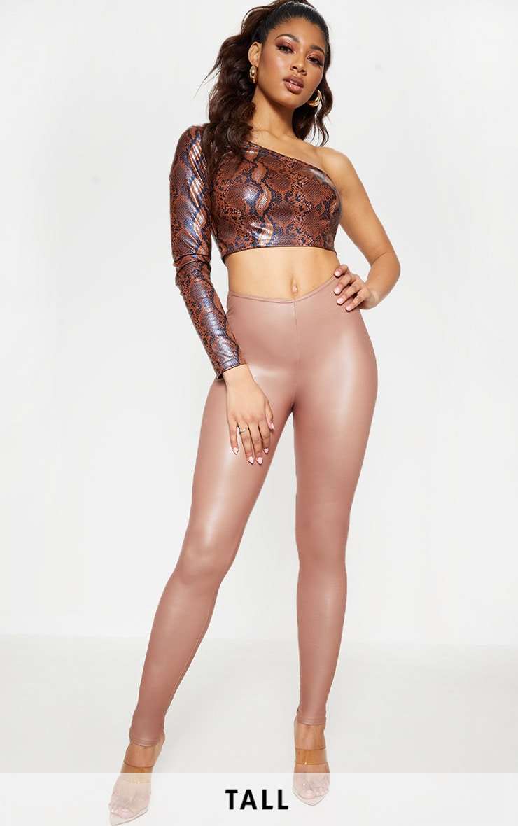Tall Stone V Front PU Legging  1