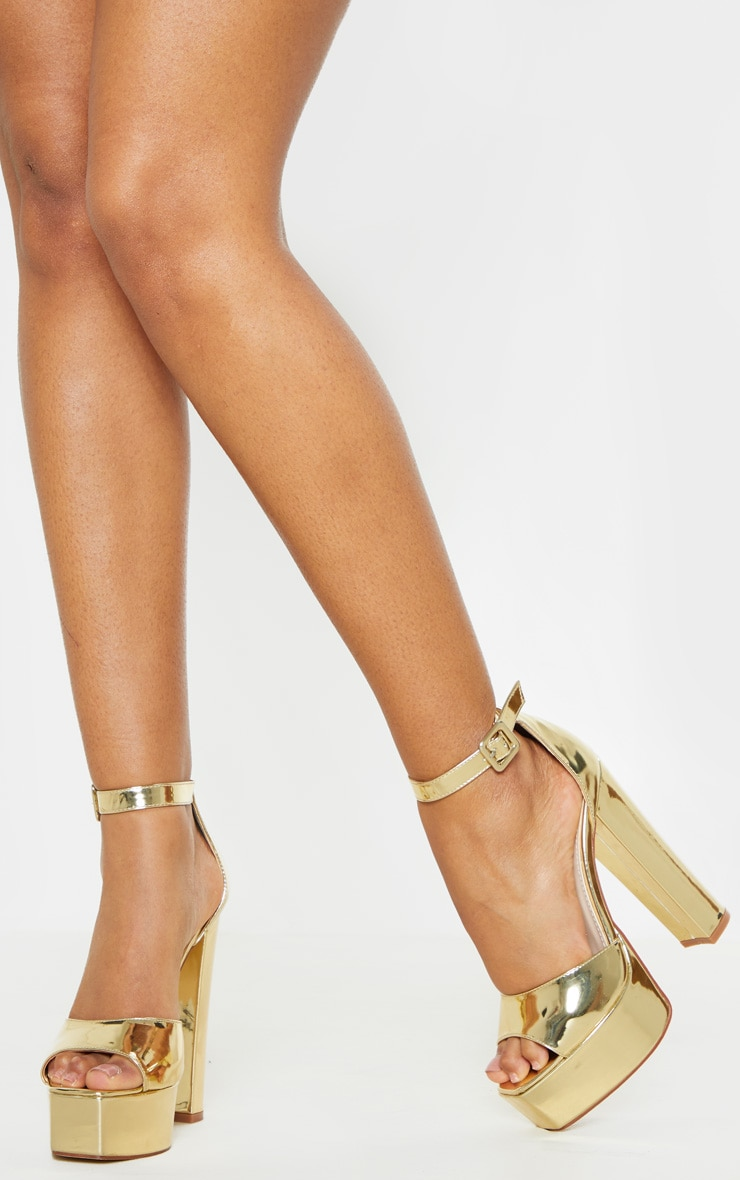 Gold Platform High Sandal 2