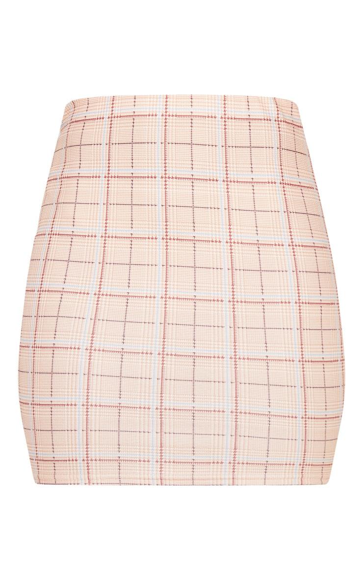 Stone Check Mini Skirt 3