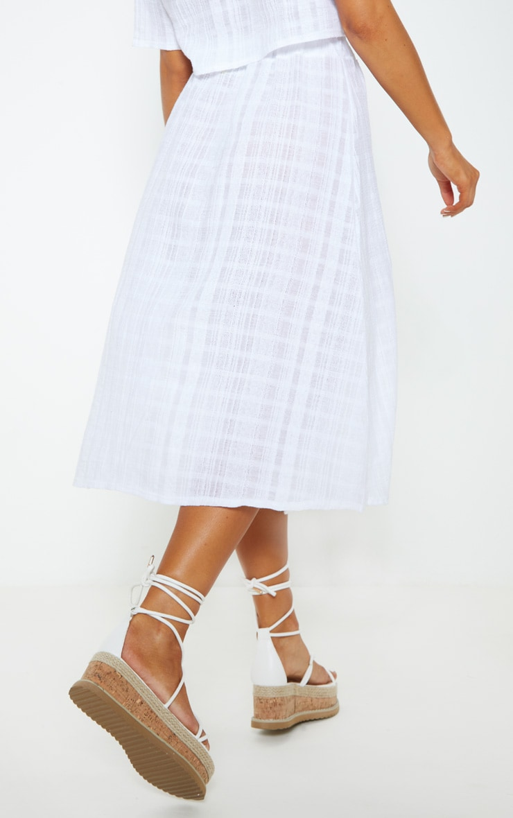 White Button Up Beach Skirt 5