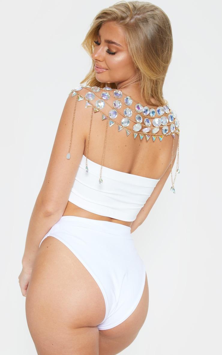 Iridescent Beaded Shoulder Collar Body Jewellery 2