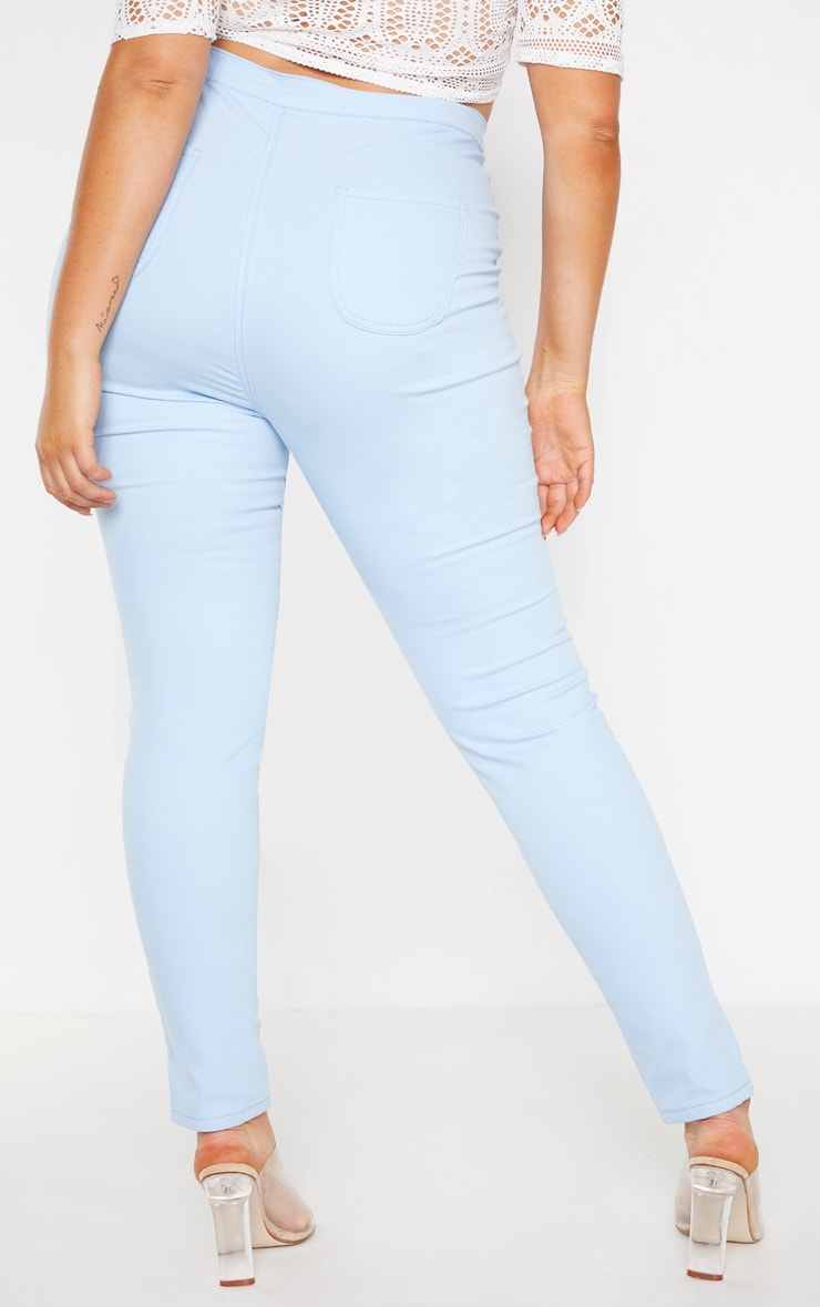 Plus Pale Blue Stretch Jegging 4