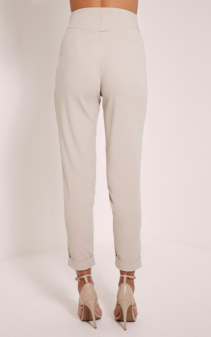 Elenor Stone High Waisted Tapered Trousers 5