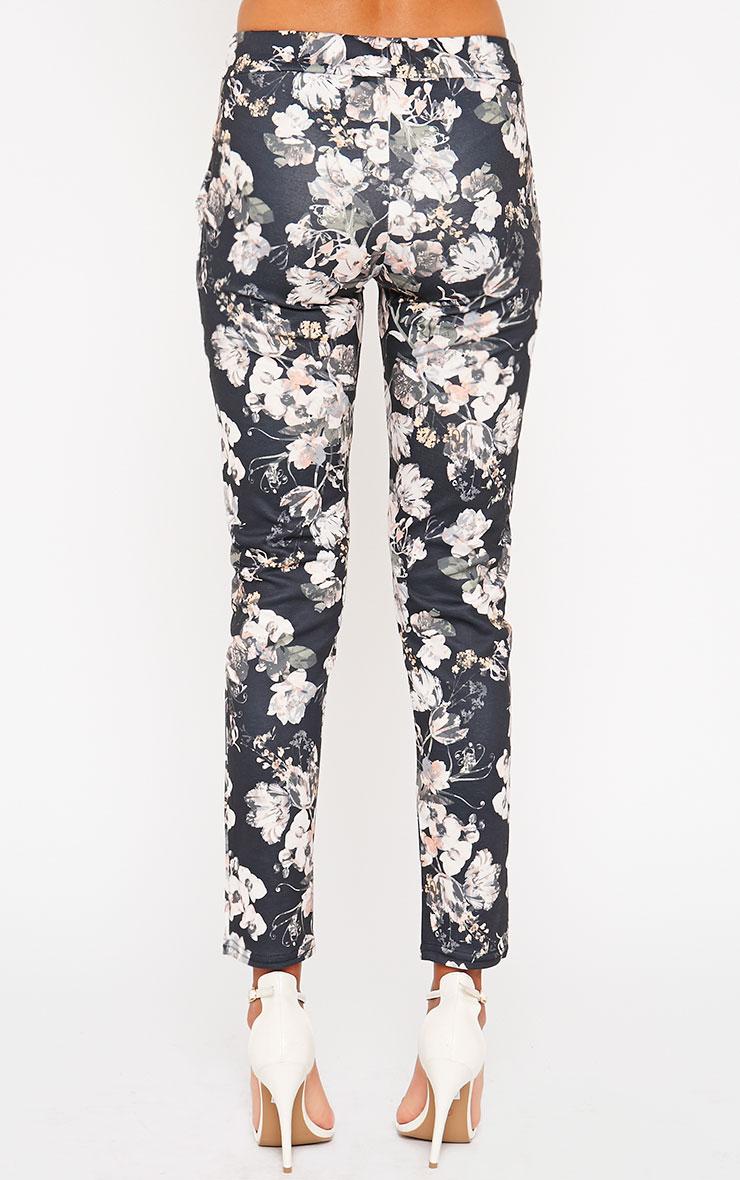 Saba Khaki Floral Trousers 4