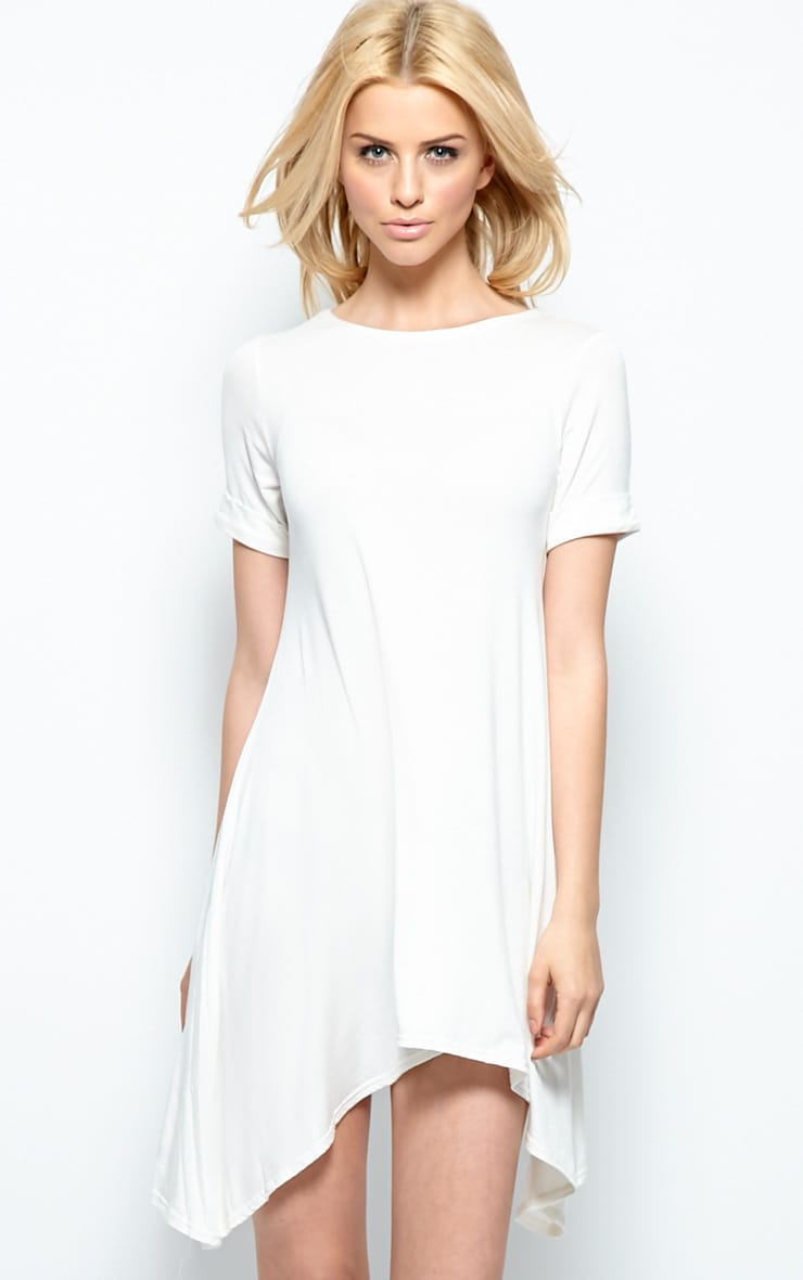 Kortney Cream Premium Jersey Swing Dress 1