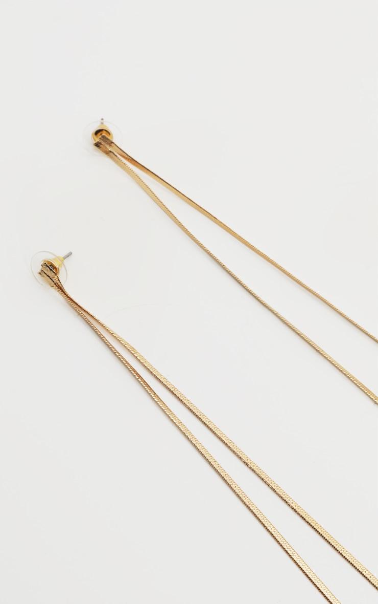 Gold Long Chain Earring 3