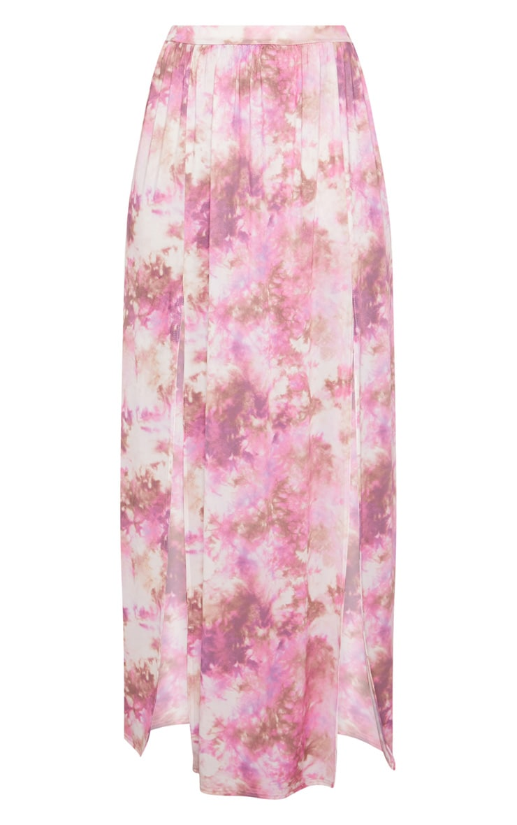 Pink Tie Dye Maxi Skirt 3