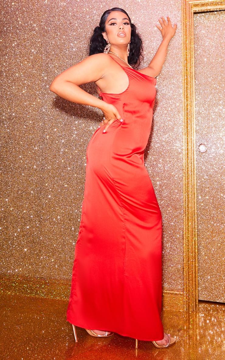 Plus Scarlet Cowl Maxi Dress 2