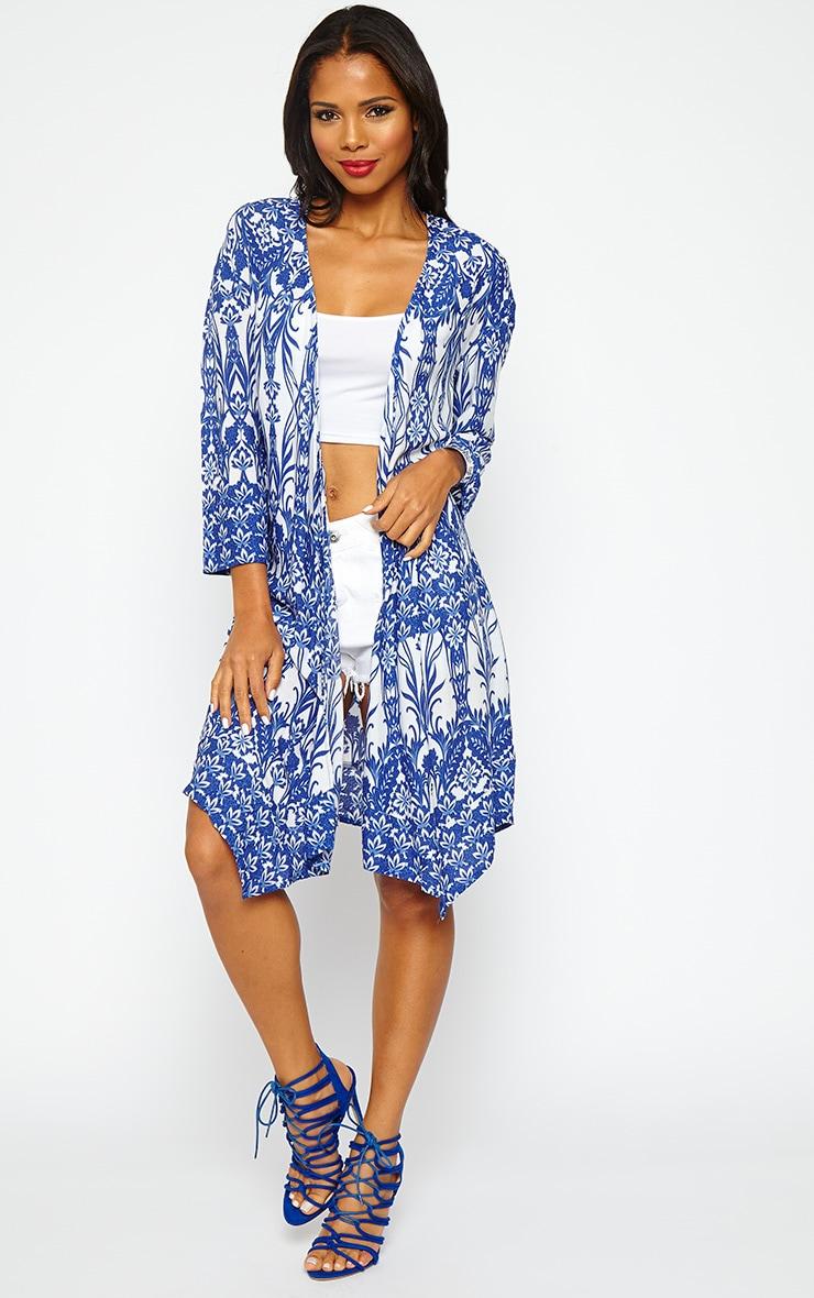 Seren Blue Multi Print Kimono 4