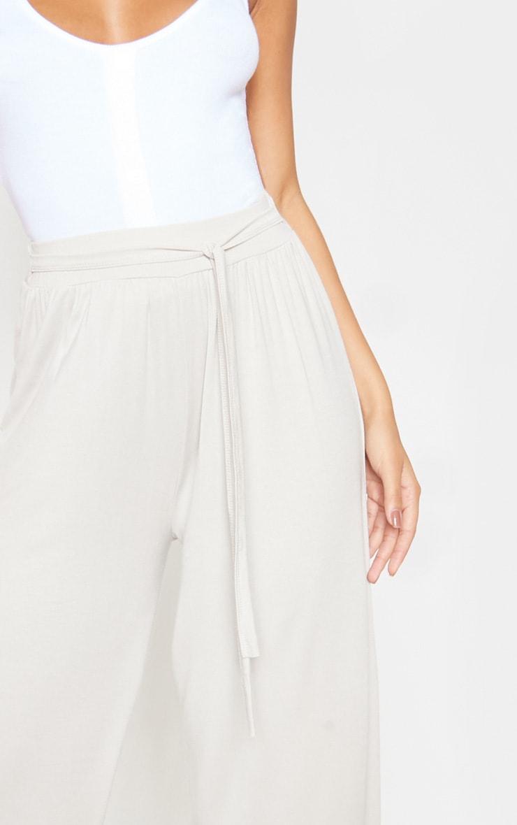 Sand Gathered Waist Tie Detail Wide Leg Culotte 5