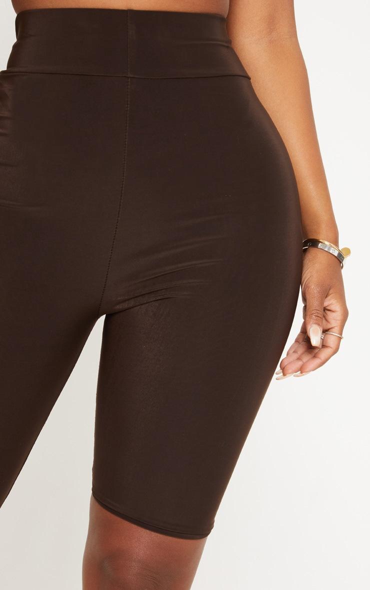 Shape - Short legging moulant marron chocolat 6