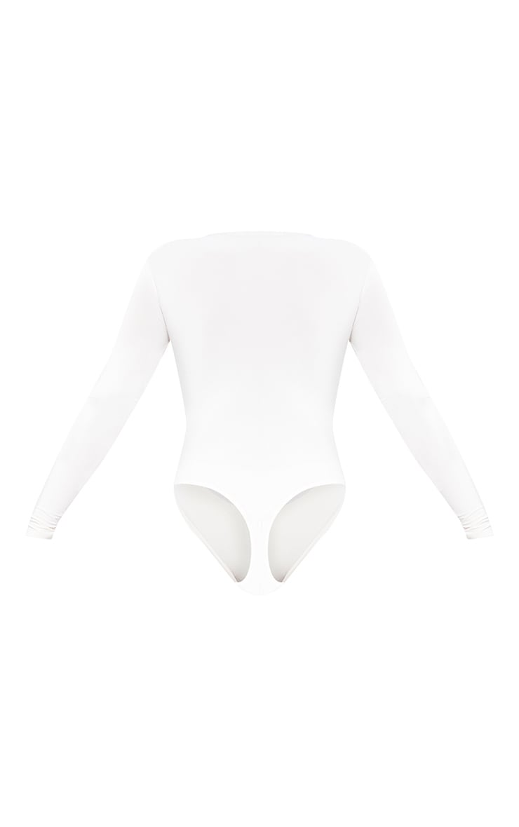 Nude Slinky Shoulder Pad Long Sleeve Bodysuit 6
