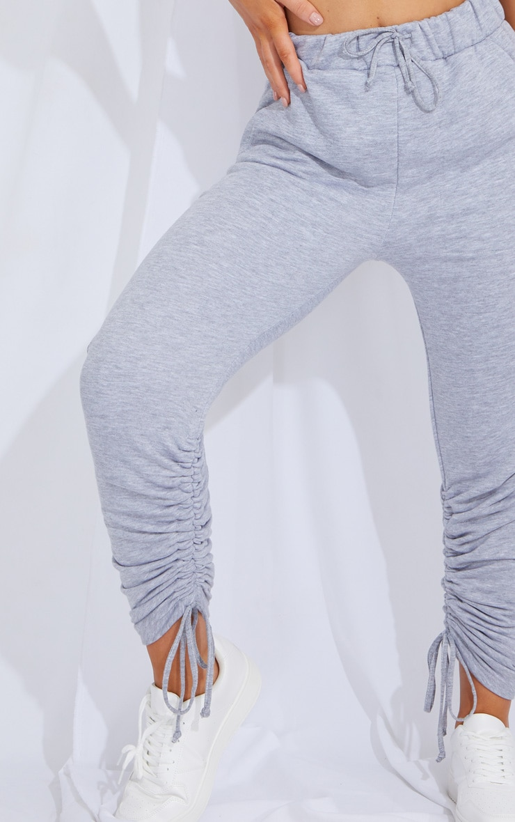 Grey Ruched Leg Joggers 4
