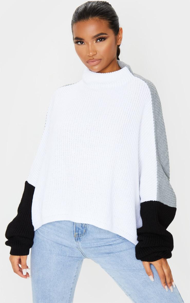 Monochrome Oversized Colour Block Sweater 1