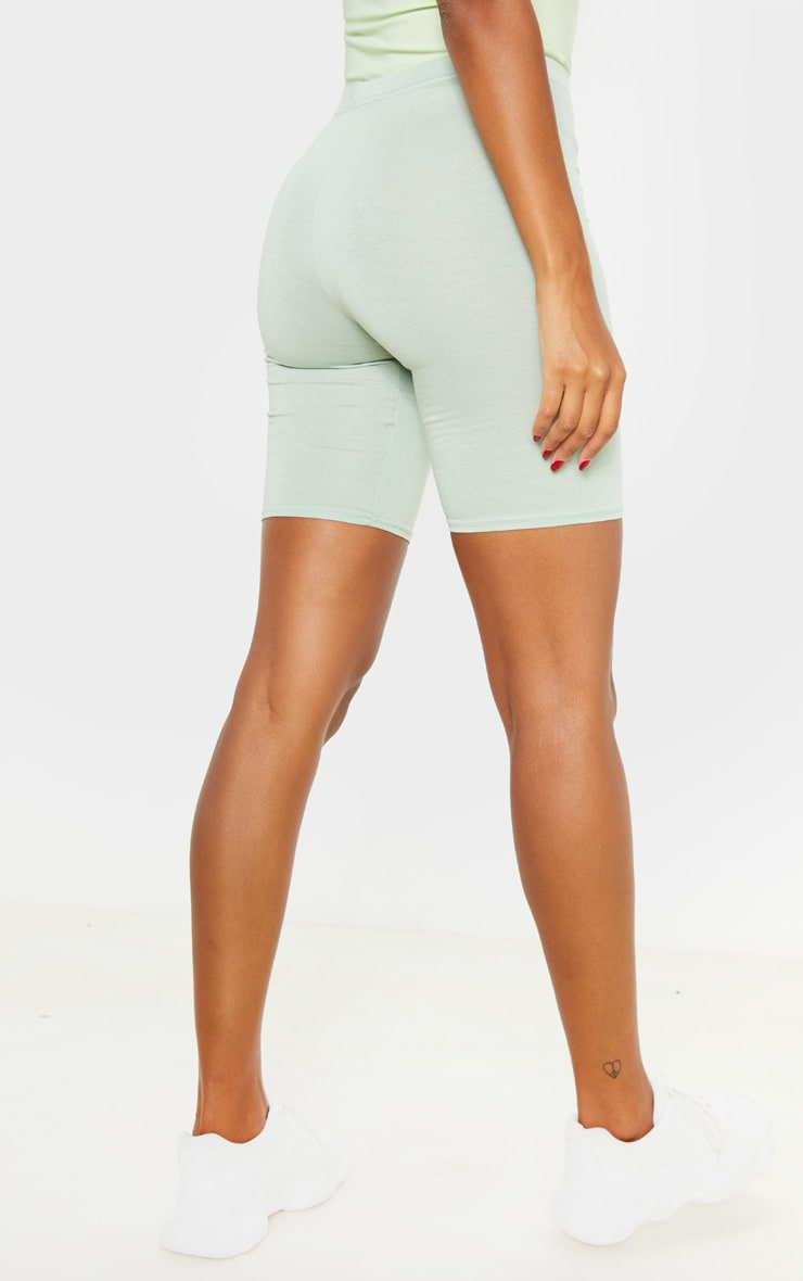 Sage Khaki And Biscuit Basic Bike Short 2 Pack 4