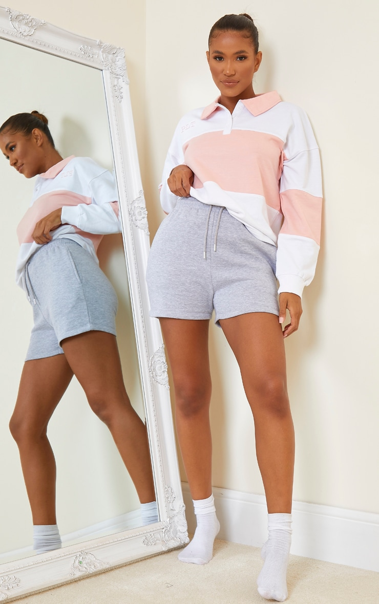 PRETTYLITTLETHING White Oversized Button Up Rugby Shirt 3