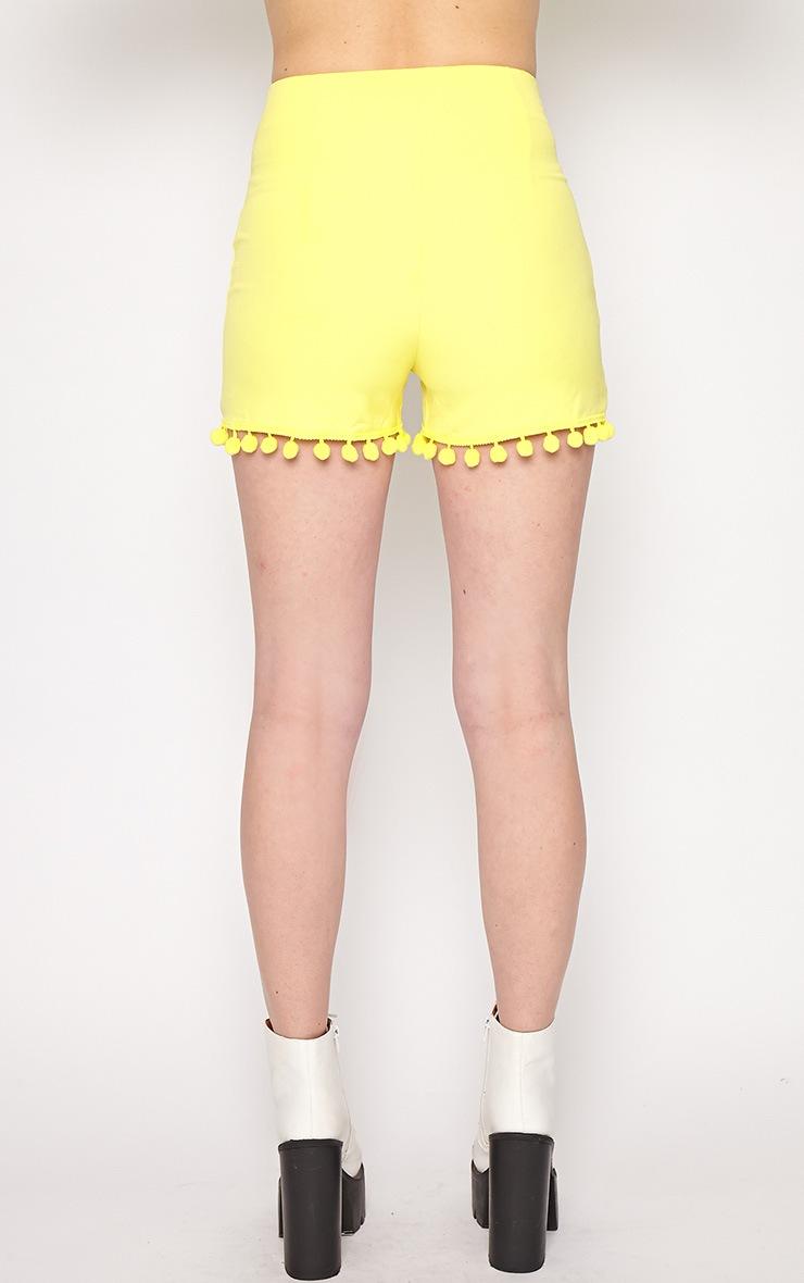 Sierra Yellow Pom Pom Short 2