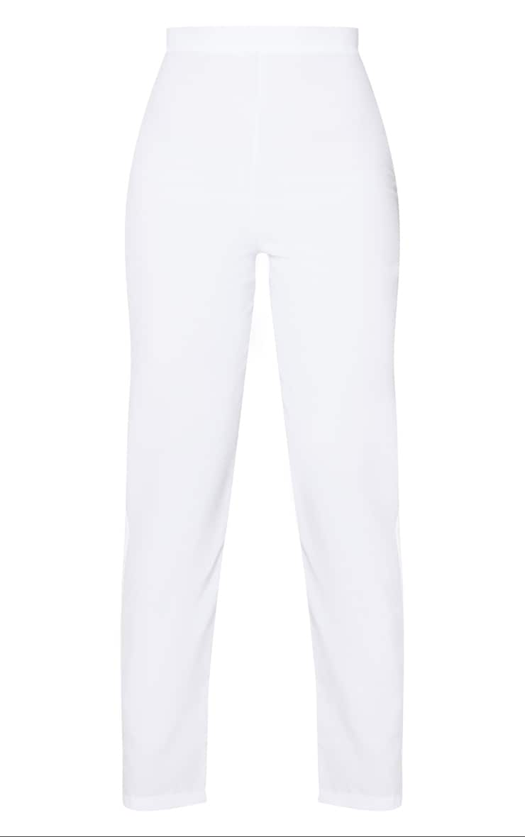 Tall White Cropped Suit Pants 5
