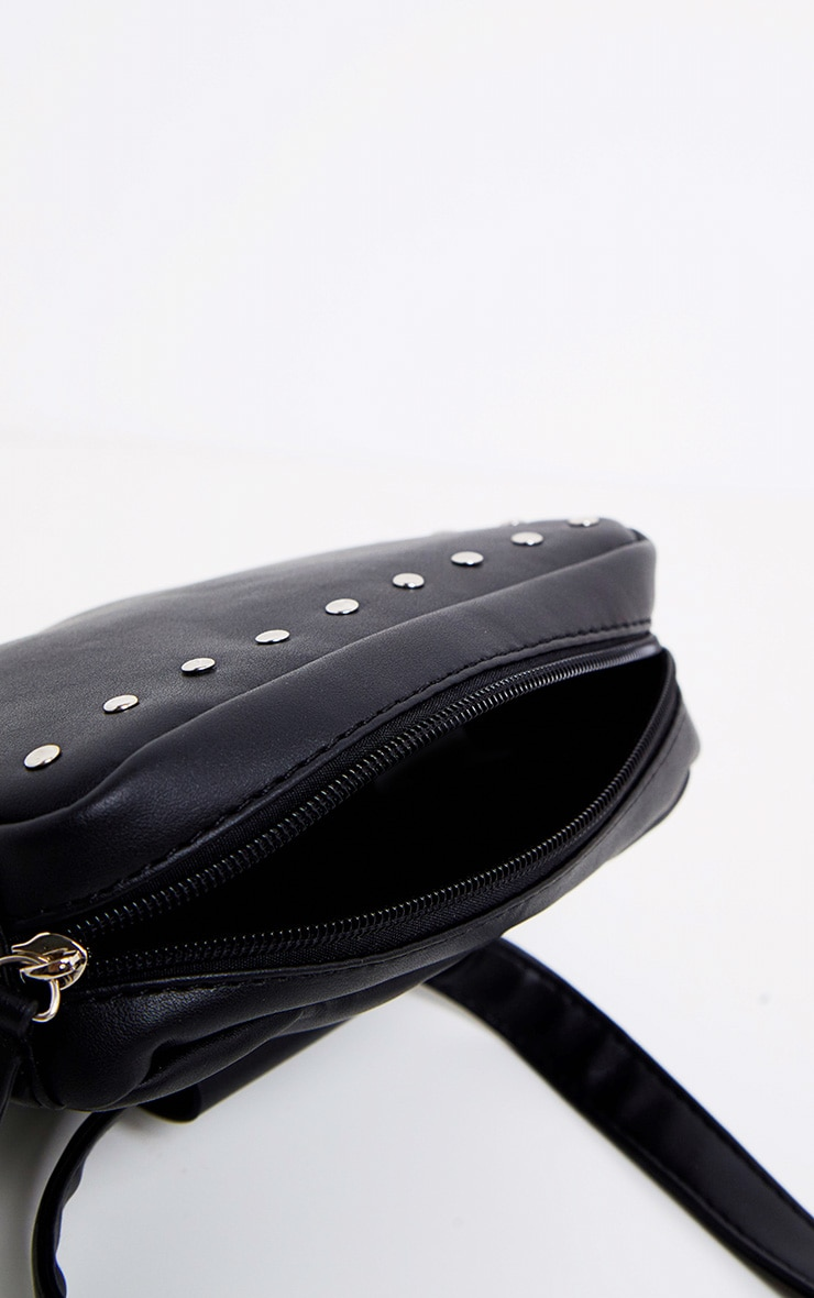 Black Studded Belted Double Bum Bag 6