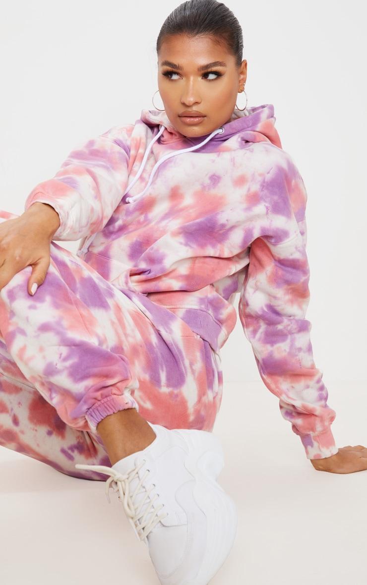 Hoodie oversize multicolore tie-dye 4