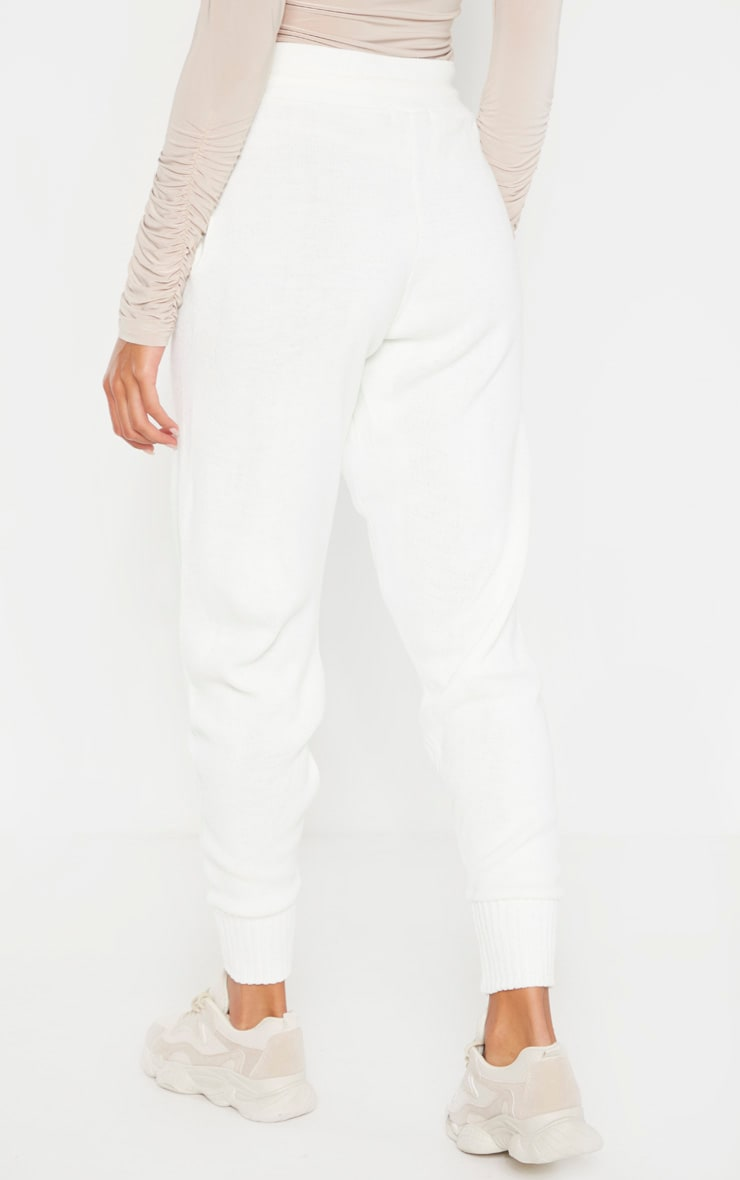 Ivory Knitted Jogger 4